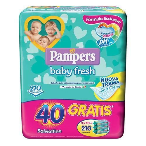 Pampers Baby Fresh Formula Esclusiva 210Pz